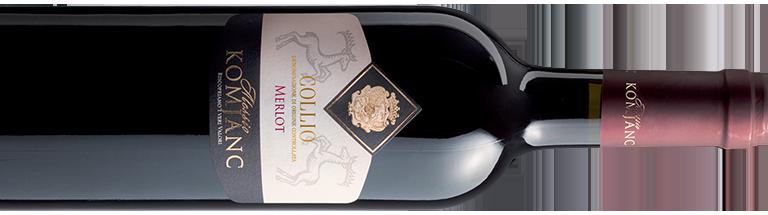 Bottiglia vino rosso Merlot Komjanc Alessio